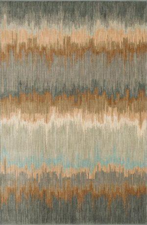 Euphoria Collection 5X8 Blue Area Rug