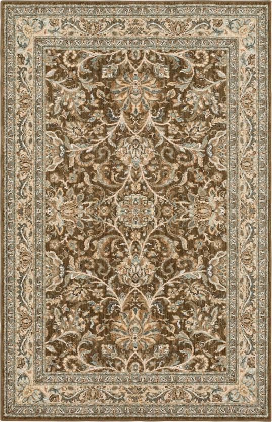 Euphoria Collection 5X8 Brown Area Rug