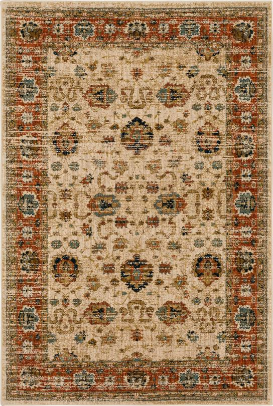 Persian Bazaar Collection 5x8 Ivory Area Rug