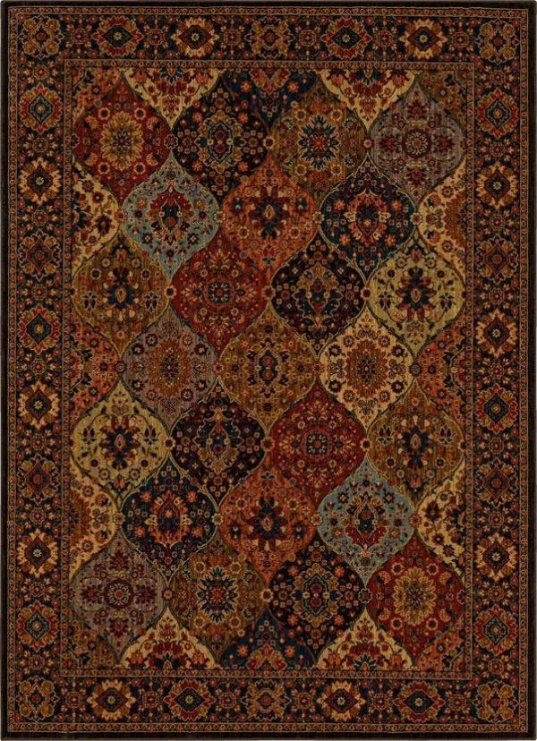 Persian Bazaar Collection 5x8 Multi Color Area Rug
