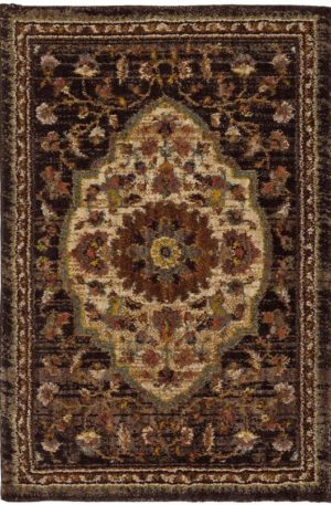 Spice Market Collection 5x8 Charcoal Area Rug