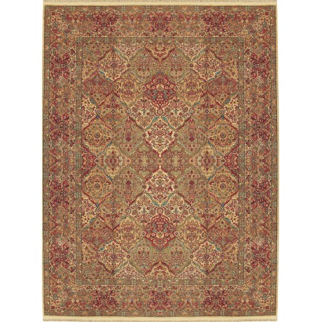 Traditional Panel 6X9 Multi Color Wool Area Rug