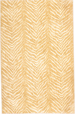 Contemporary 5X8 Beige Synthetic Area Rug