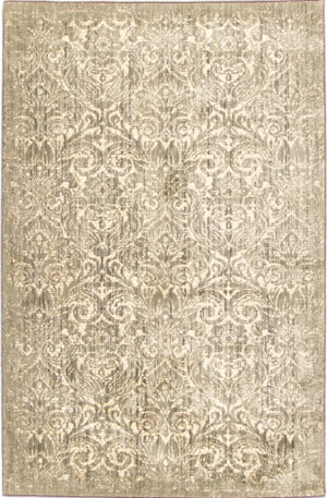 Machine Made Transitional 5X8 Grey Synthetic Area Rug