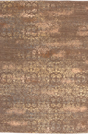 Transitional Chinese 5X8 Green Wool Area Rug