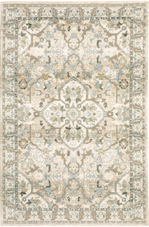 Catalan Collection 5X8 Gray Transitional Area Rug