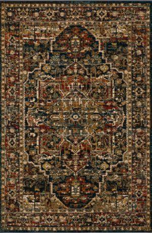 Persian Bazaar 3x5 Blue Traditional Area Rug