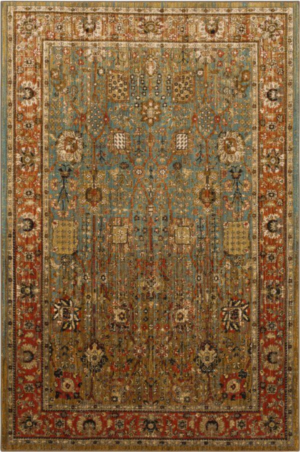 Persian Bazaar 3x5 Aqua Traditional Area Rug