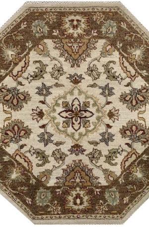 Zeigler 3' Octagon Beige Wool Area Rug