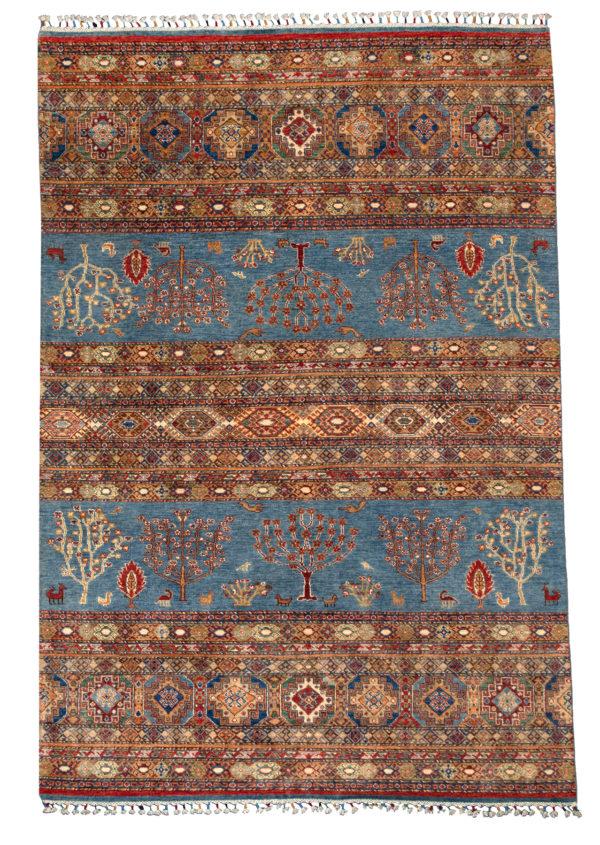Khorjin Pakistan 6X9 Blue Wool Area Rug