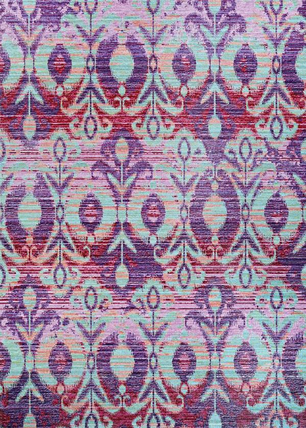 Xanadu Collection 5X8 Purple Area Rug