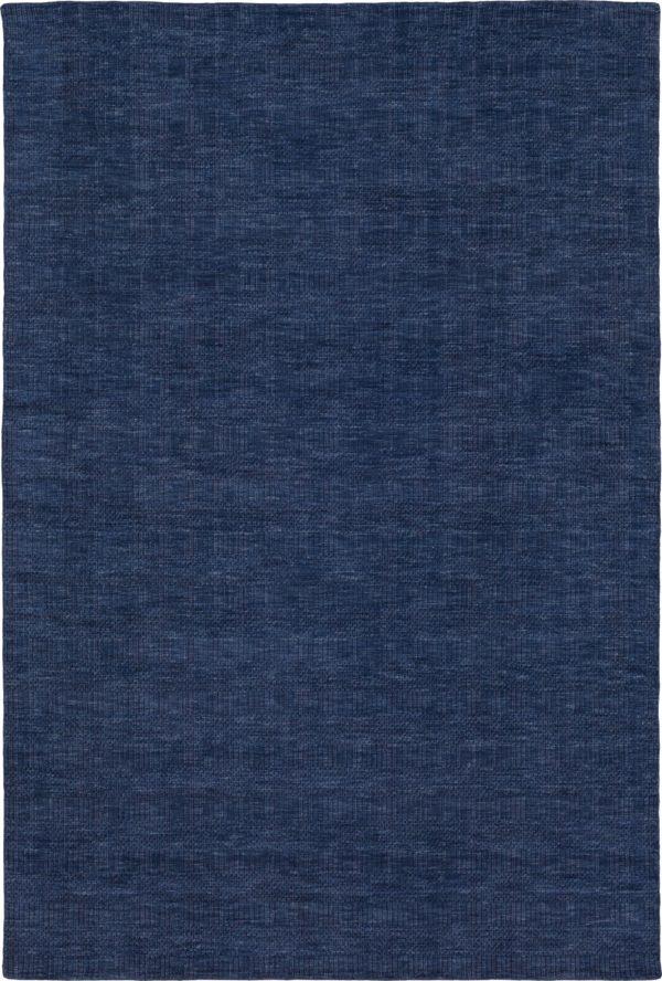 Zodiac Collection 5x8 Navy Contemporary Area Rug