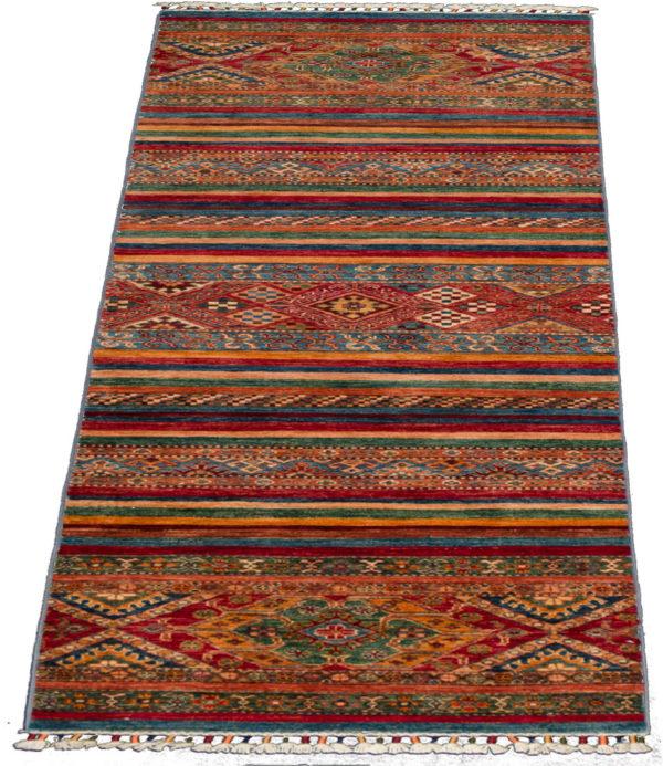 Pakistani Khorjin Runner Multi Color Wool Area Rug