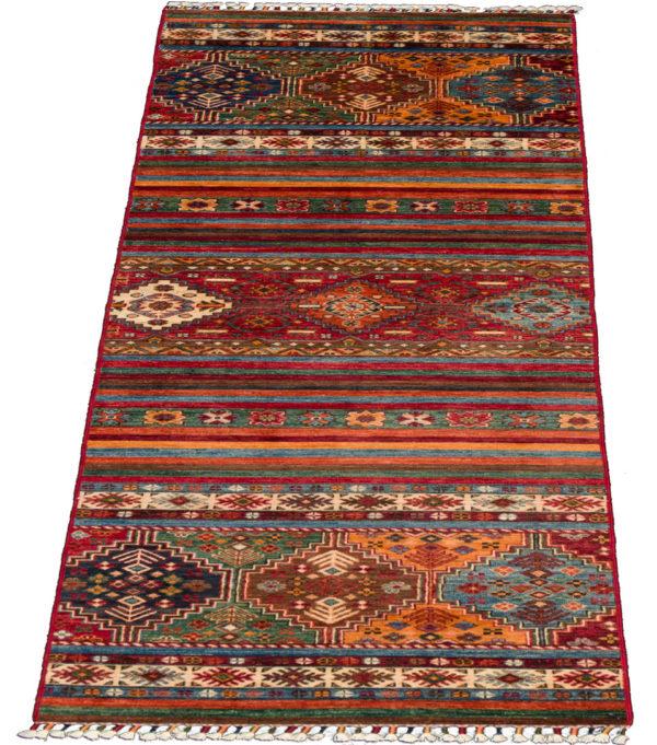 Pakistani Khorjin Runner Multi Wool Area Rug