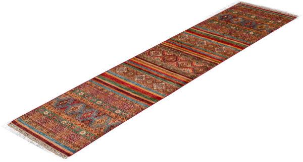Pakastani Khorjin Runner Multi Wool Area Rug