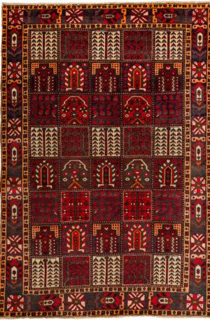 Persian Bakhtiari 6X9 Multi Color Wool Area Rug