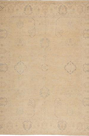 Chobi Design 9X12 Beige Wool Area Rug