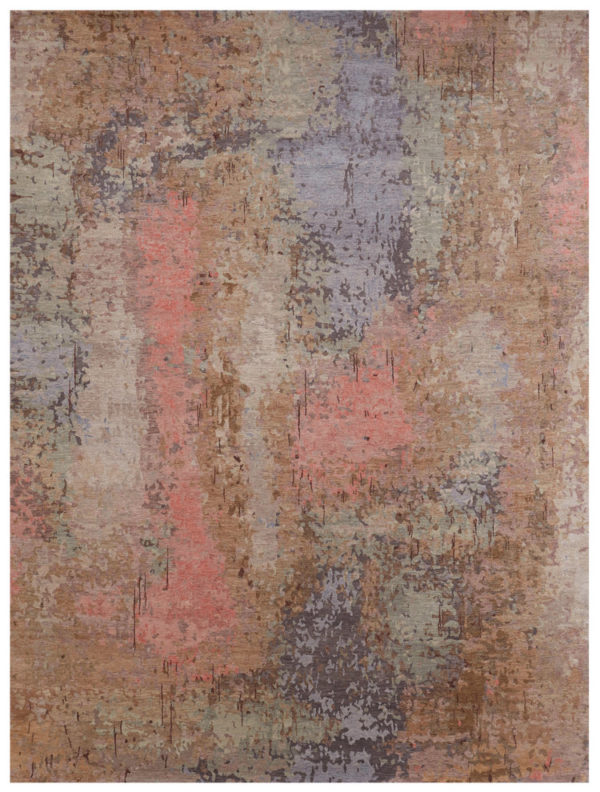 Contemporary Nepal 8X10 Multi Color Wool Area Rug