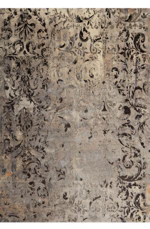Contemporary Nepal 8X10 Grey Wool Area Rug