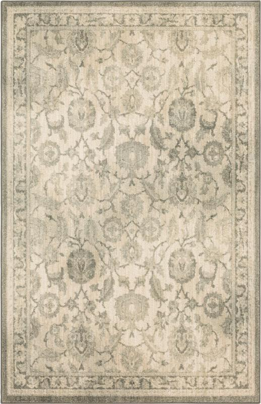 Transitional 6X9 Grey Synthetic Area Rug