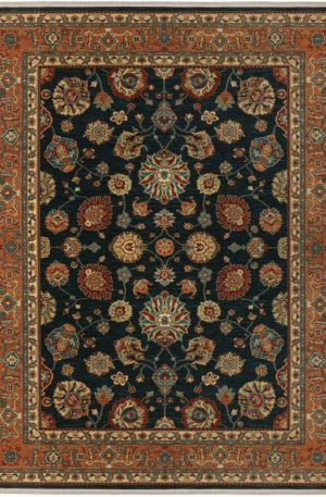 Traditional 8X10 Blue Wool Area Rug