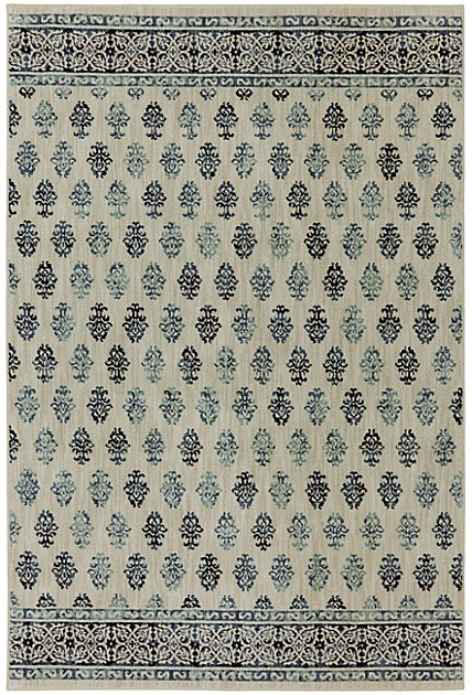 Transitional 5X8 Beige Area Rug