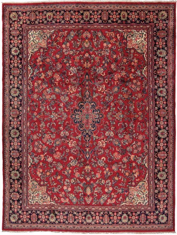Persian Mahal 10X14 Red Wool Area Rug