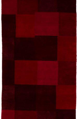 Runner Red Wool Area Rug