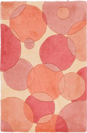 2X3 Pink Wool Area Rug