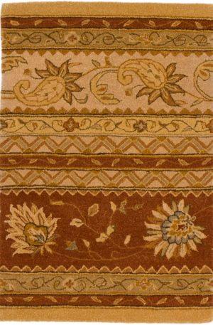 2X3 Brown Wool Area Rug