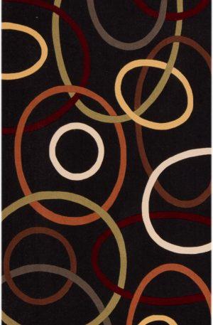 3X5 Black Wool Area Rug