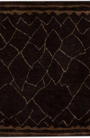 Tufted 2X3 Black Wool Area Rug