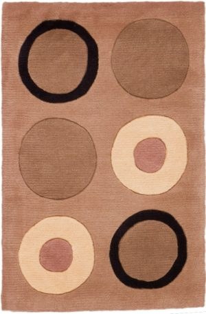 Contemporary 2X3 Green Wool Area Rug