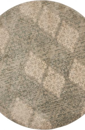 Transitional 8 Foot Round Grey Area Rug
