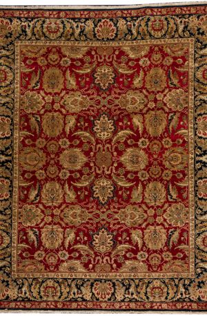 8X10 Red Blue Wool Area Rug