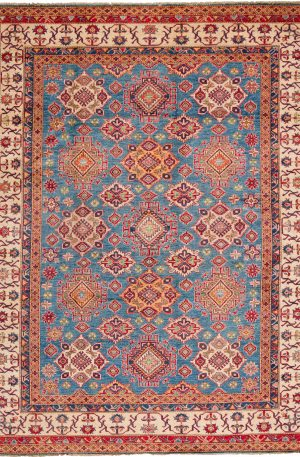 Pakistani Kazak 8x10 Blue Wool Area Rug