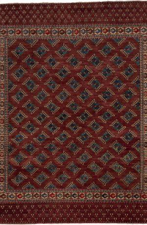 Afghan 9X12 Red Wool Area Rug