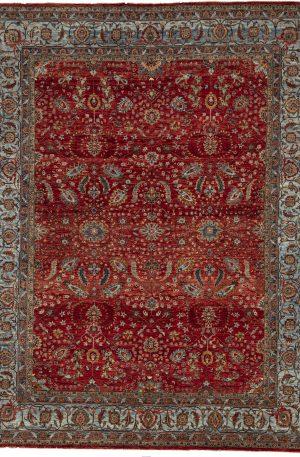 Afghan 9X12 Red Blue Wool Area Rug