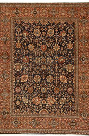 Afghan Nooristan 9X12 Blue Wool Area Rug