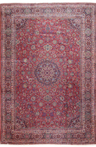 Persian Antique Kashan 12 x 18 Area Rug