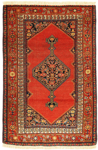 Antique Persian Bakshaish 5 x 8 Area Rug