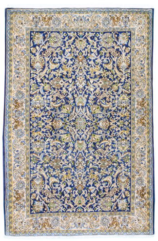 "Persian Qum 4'6"" x 7'1"" Hand Knotted Area Rug"