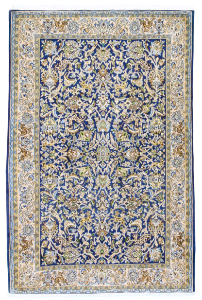 """Persian Qum 4'6"""" x 7'1"""" Hand Knotted Area Rug"""