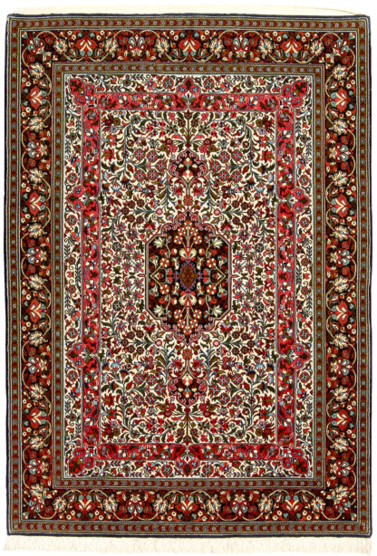 """Hand Knotted Persian Qum 4'9"""" x 6'10"""" Area Rug"""