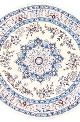 Persian Nain 8' Round Hand Knotted