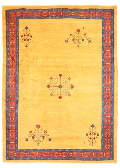 """Persian Gabbeh 7' x 9'5"""" Yellow Area Rug"""