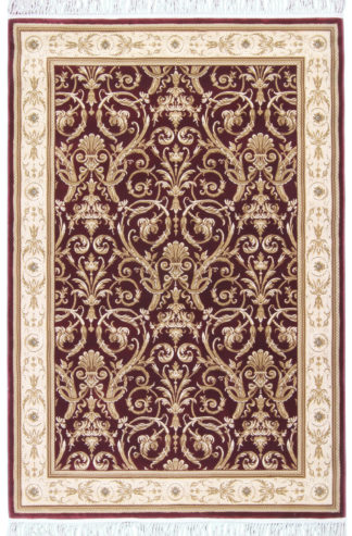 "Egyptian Machine Made Area Rug 5'3""x7'6"" Burgundy Beige"