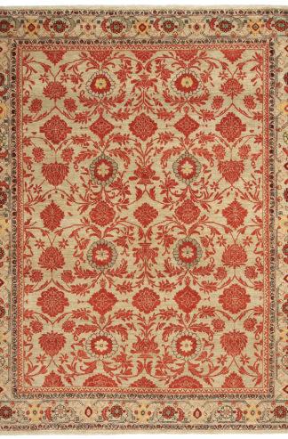 Persian Malayer 8'x11' Beige Rust Area Rug