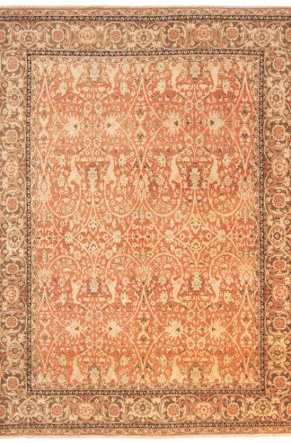 Persian Tabriz 8'x11' Beige Rust Area Rug