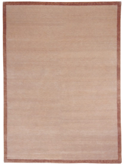 Hand Knotted Wool Tibetan 8'x10' Brown Area Rug